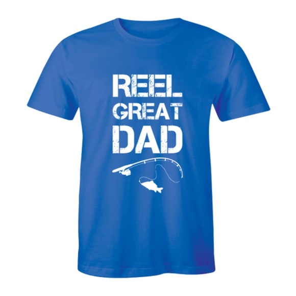 Half It Other - Reel Great Dad Fathers Day Fish Lover Mens T-shirt
